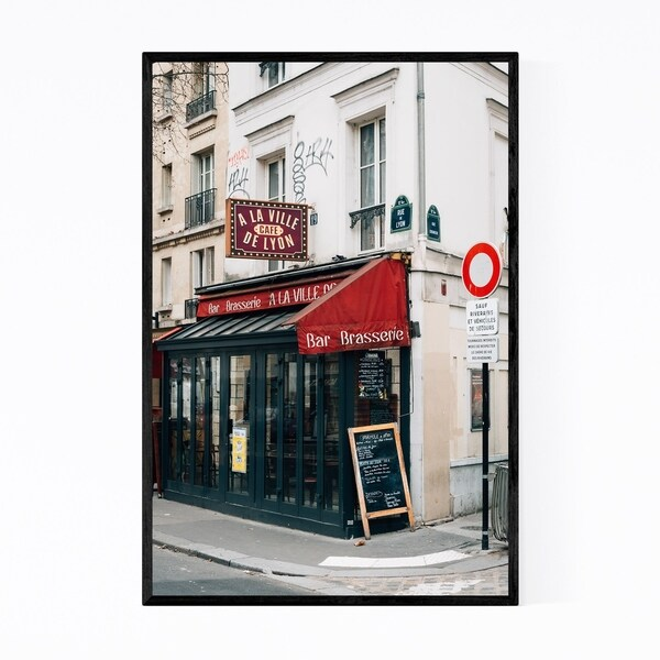 Noir Gallery Cafe Bar Brasserie Paris France Framed Art Print
