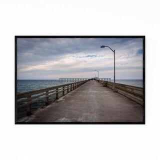 Noir Gallery Ocean Beach California Pier Framed Art Print