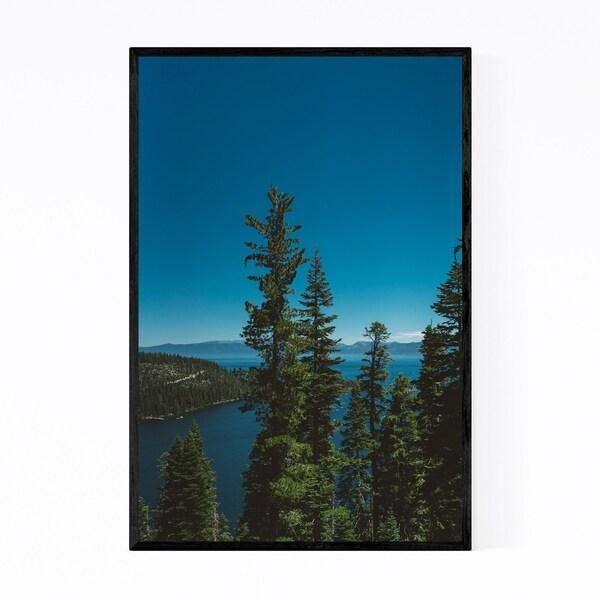 Noir Gallery Emerald Bay Lake Tahoe Trees Framed Art Print