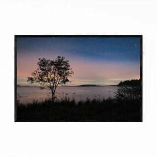 Noir Gallery Northern Lights Finland Lake Framed Art Print
