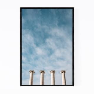 Noir Gallery Four Columns Barcelona Spain Framed Art Print