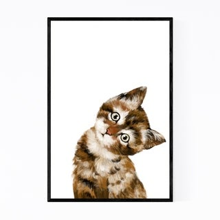 Noir Gallery Baby Kitten Peekaboo Animal Framed Art Print