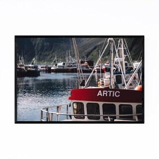 Noir Gallery Honningsvåg Norway Boat Harbor Framed Art Print