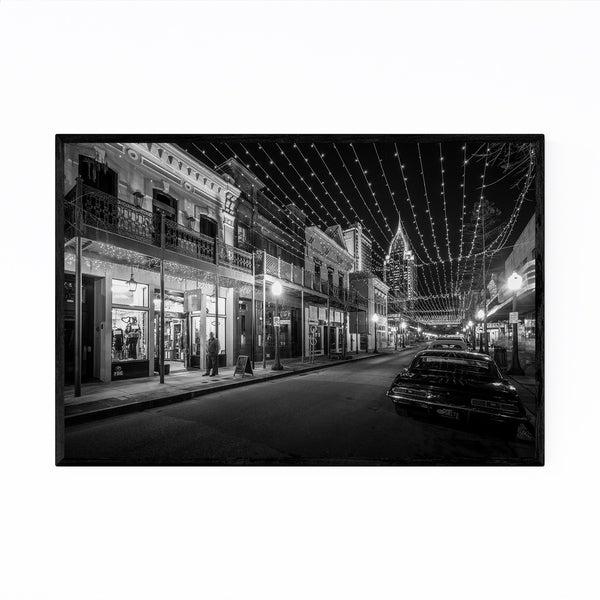 Noir Gallery Black & White Mobile Alabama Framed Art Print