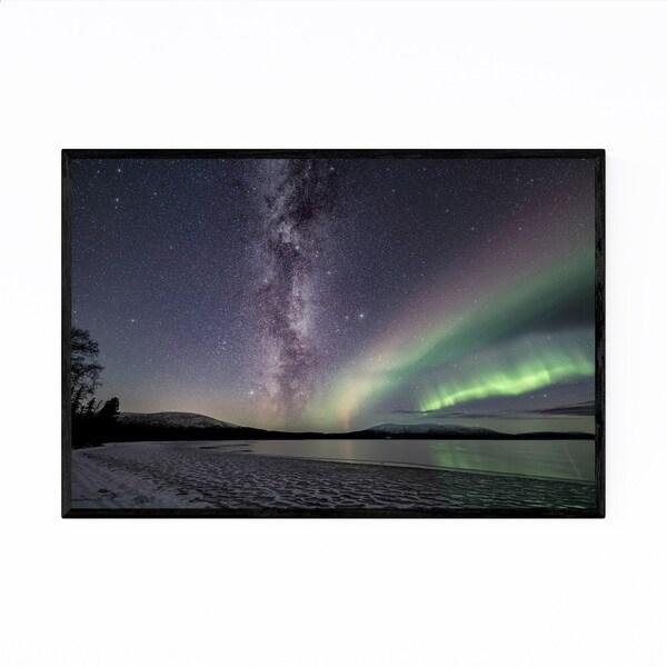 Noir Gallery Northern Lights Lapland Finland Framed Art Print