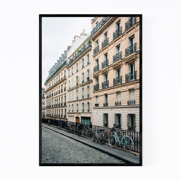 Noir Gallery Bikes Architecture Paris France Framed Art Print