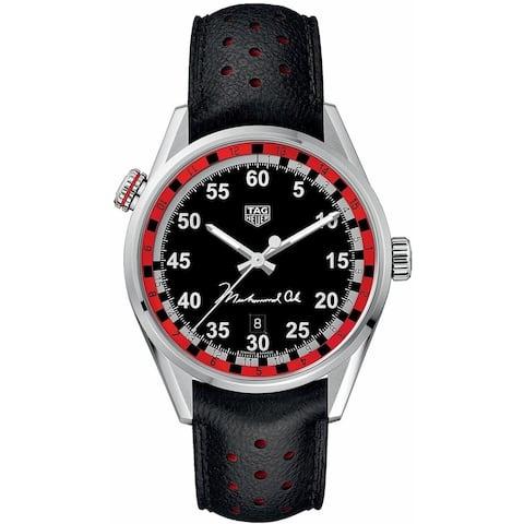 Tag Heuer Men's WAR2A11.FC6337 'Carrera' Black Leather Watch