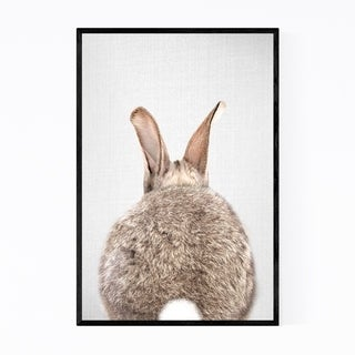 Noir Gallery Rabbit Nursery Peeking Animal Framed Art Print