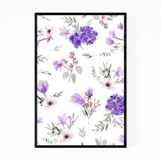 Noir Gallery Floral Botanical Leaves Pattern Framed Art Print