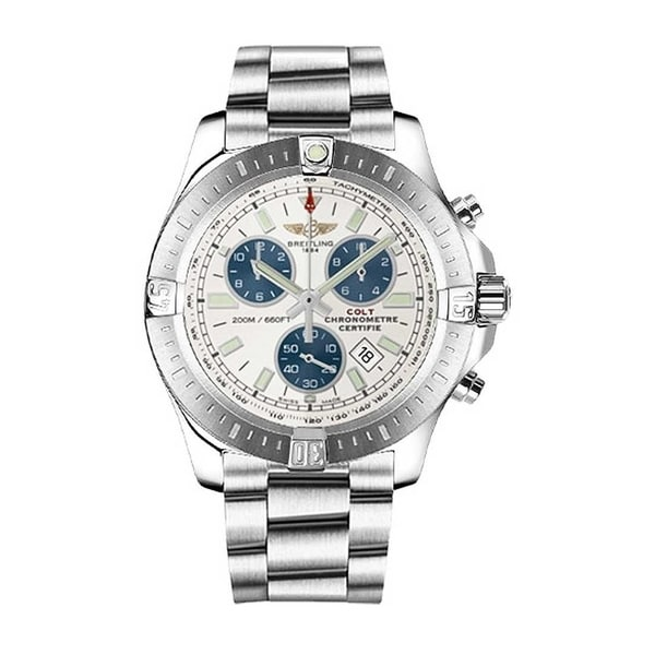 Breitling Men's A7338811-G790-173A 'Colt Chronograph' Chronograph Stainless Steel Watch. Opens flyout.