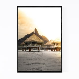 Noir Gallery Bora Bora Beach Coastal Nature Framed Art Print