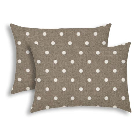 DINER DOT Taupe Indoor/Outdoor Pillow - Sewn Closure (Set of 2) - N/A