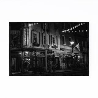 Noir Gallery Black & White Baltimore Italy Framed Art Print
