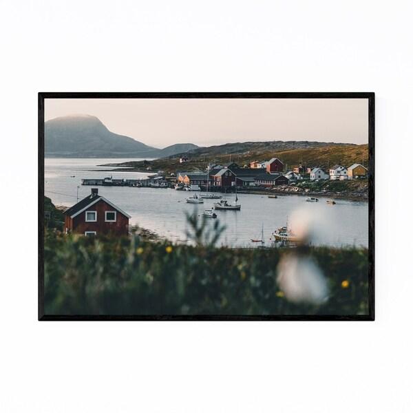 Noir Gallery Repvag Norway Harbor Arctic Framed Art Print