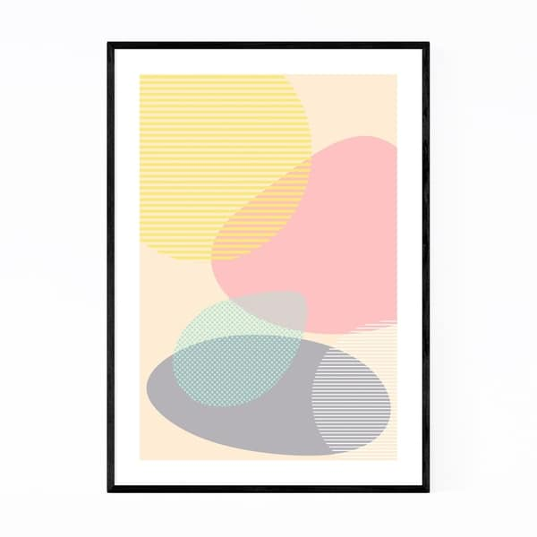 Noir Gallery Pastel Abstract Organic Shapes Framed Art Print