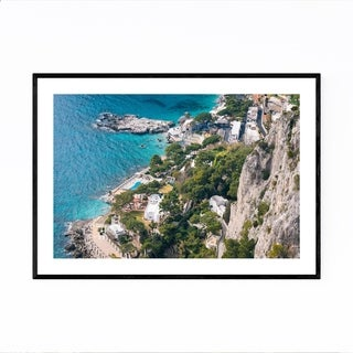Noir Gallery Capri Italy Coastal Beach Photo Framed Art Print