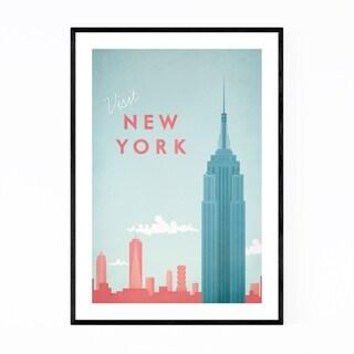 Noir Gallery Minimal Travel Poster New York Framed Art Print