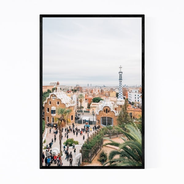 Noir Gallery Park Guell Gaudi Barcelona Spain Framed Art Print