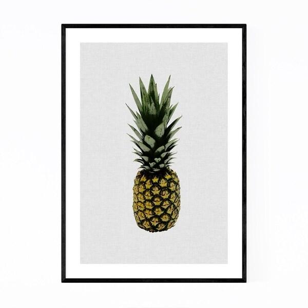 Noir Gallery Kitchen Pineapple Fruit Food Framed Art Print