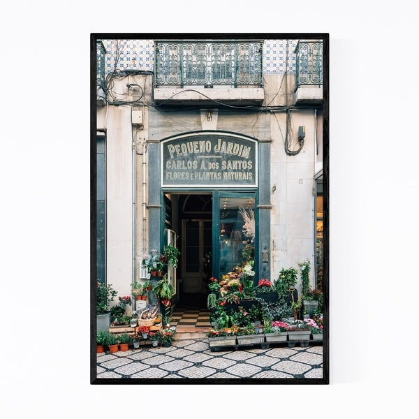 Noir Gallery Plant Shop Lisbon Portugal Framed Art Print