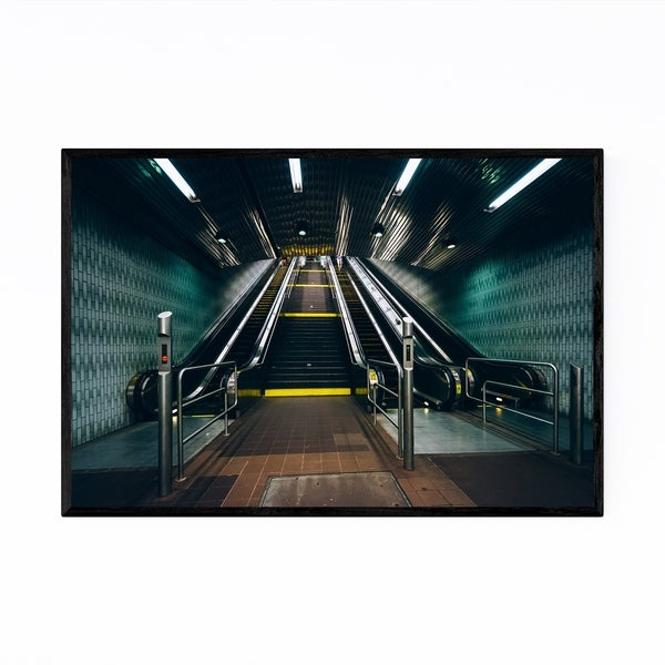 Noir Gallery Roosevelt Island Subway New York Framed Art Print