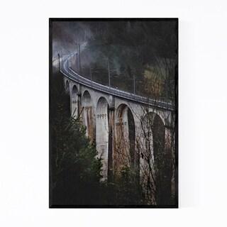 Noir Gallery Railroad Bridge Jura Switzerland Framed Art Print