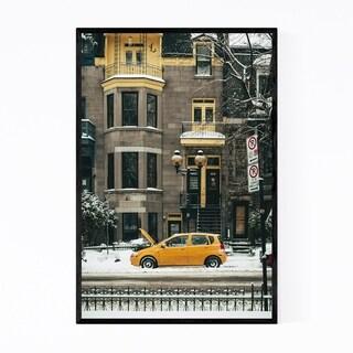 Noir Gallery Montreal Quebec Snow Winter Framed Art Print