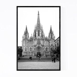 Noir Gallery Barcelona Cathedral Spain Urban Framed Art Print