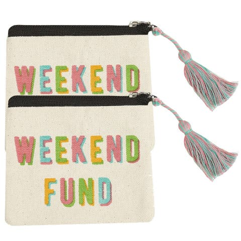 Weekend Fund Coin Pounches, Set of 2