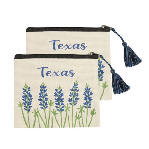 Texas Bluebonnet Cosmetic Pouches, Set of 2