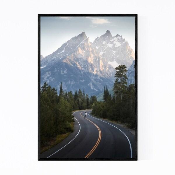 Noir Gallery Grand Teton Mountains Wyoming Framed Art Print