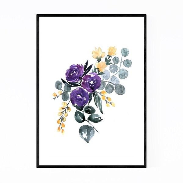 Noir Gallery Bohemian Watercolor Bouquet Framed Art Print