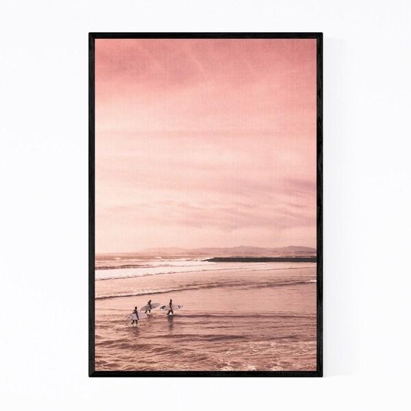 Noir Gallery Surfing Beach Ocean California Framed Art Print