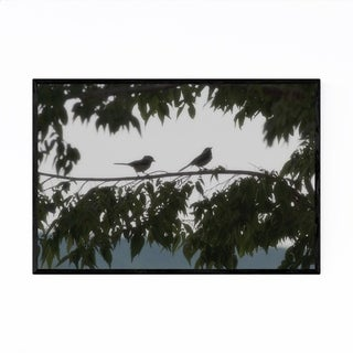 Noir Gallery Sparrow Bird Trees Forest Animal Framed Art Print