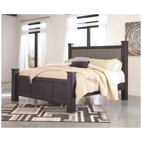 Reylow Upholstered Poster Bed