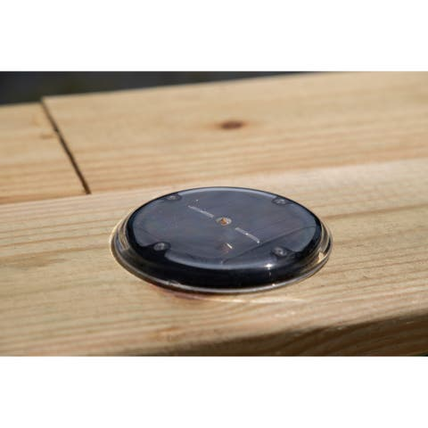 Kelby Black Solar Drop in Deck Dock and Path Light