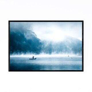 Noir Gallery Fisherman Lake Boat Japan Framed Art Print