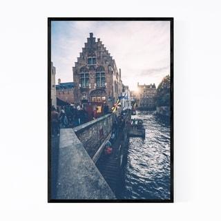 Noir Gallery Canal Bruges Belgium Europe Framed Art Print