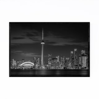 Noir Gallery Toronto Skyline Cityscape Urban Framed Art Print