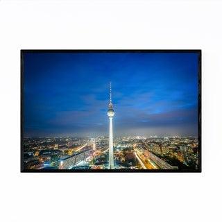Noir Gallery Berlin Germany Tower Cityscape Framed Art Print