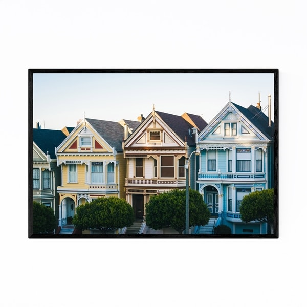 Noir Gallery Painted Ladies San Francisco Framed Art Print