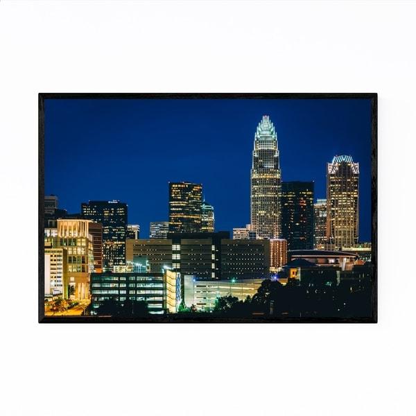 Noir Gallery Charlotte Skyline North Carolina Framed Art Print