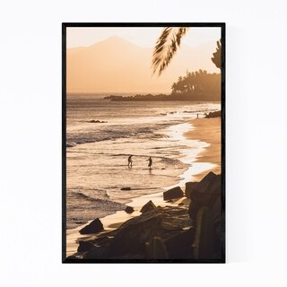 Noir Gallery Lanzarote Canary Islands Beach Framed Art Print