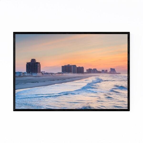 Noir Gallery Beach Ventnor City, New Jersey Framed Art Print