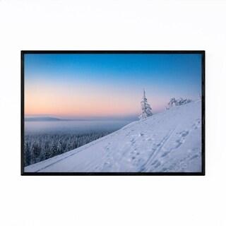 Noir Gallery Lapland Finland Snowy Mountain Framed Art Print