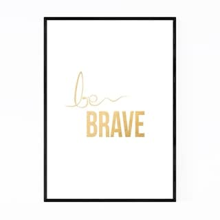 Noir Gallery Gold Inspirational Typography Framed Art Print