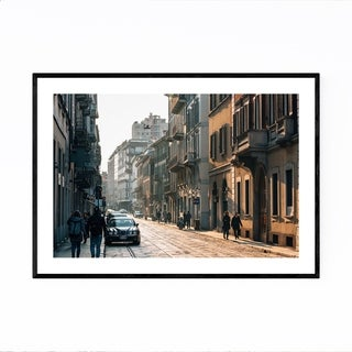 Noir Gallery Brera Milan Italy Street Photo Framed Art Print