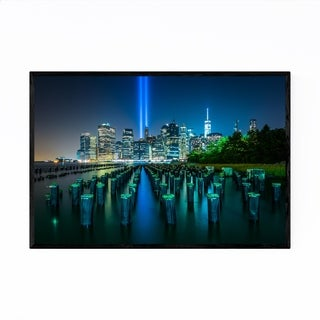Noir Gallery New York City Manhattan Skyline Framed Art Print