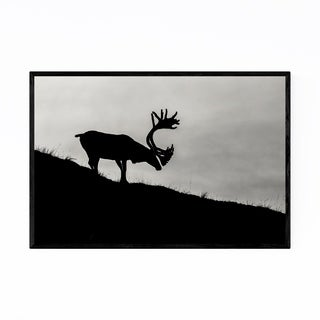 Noir Gallery Denali National Park Caribou Framed Art Print