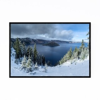 Noir Gallery Crater Lake National Park Oregon Framed Art Print